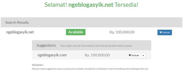 harga sewa domain .net
