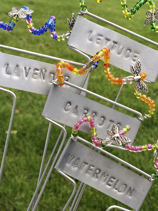 Stamped and Beaded Garden Marker craft