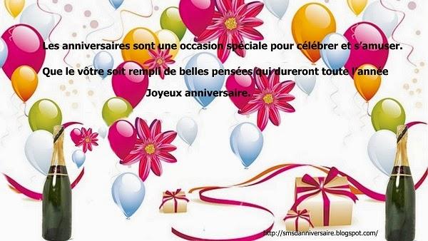 sms d'anniversaire en francais