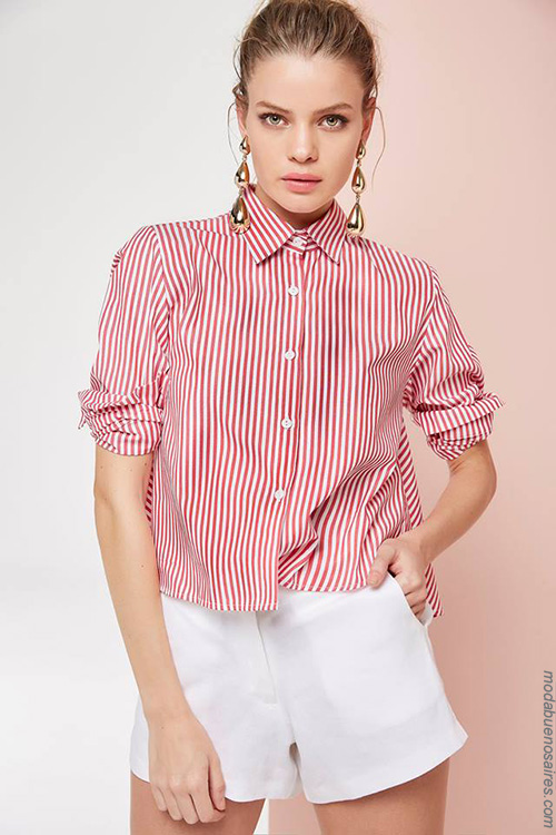 Camisas y shorts de mujer moda primavera verano 2018. Moda 2018.