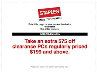photo regarding Staples Coupons Printable called Staples Printable Discount codes July 2017 - Price reduction Sneakers Retailer