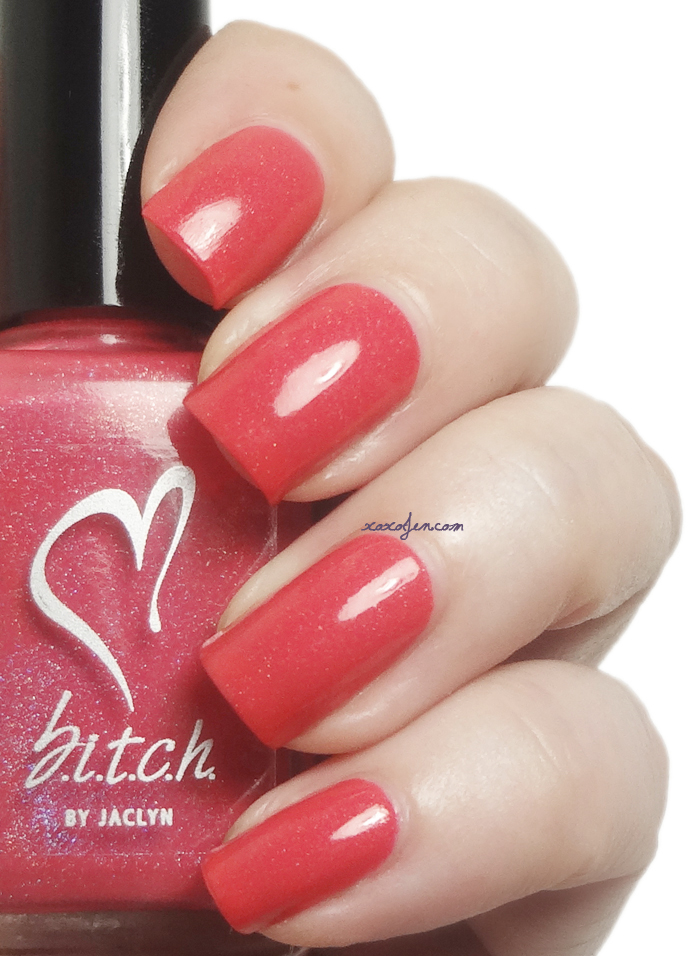 xoxoJen's swatch of b.i.t.c.h. by jaclyn Tulips Are Better Than One