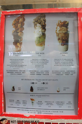 Oddies Menu - Prices - Hong Kong