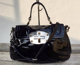 eaa9ed56db8a pArT tiMe bUnDLe  Authentic Miu Miu Black Patent Leather Two Way Bag ...
