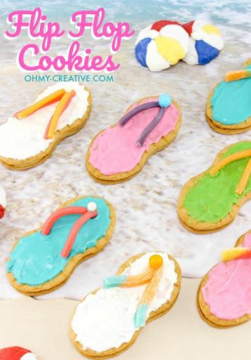 Flip Flop Party Cookies