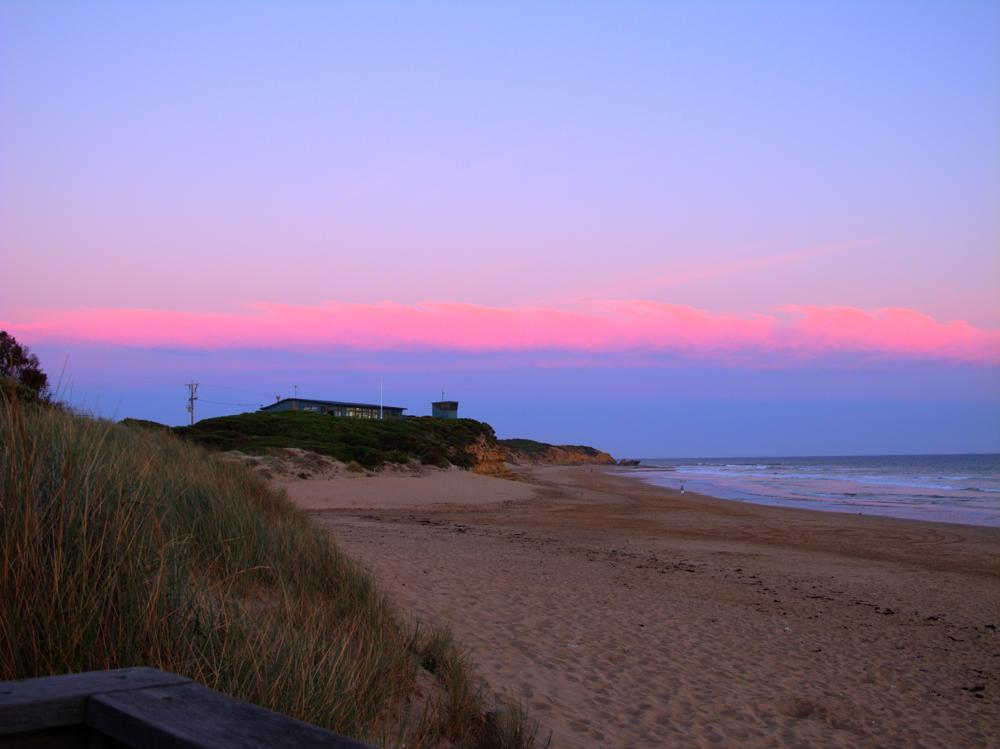 dusk at jan juc beach australia photo by susan wellington