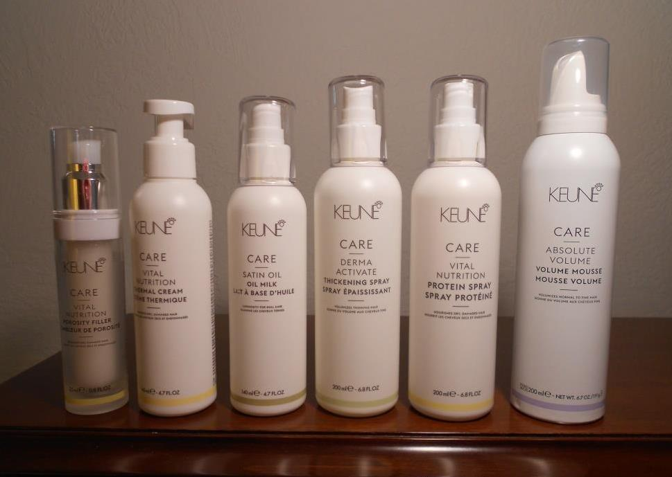 six-new-Keune care-line-hair-products