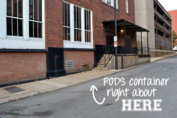 This street space is great for leaving a PODS container on moving day.