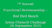 1st Annual Red Bird Ranch AOC Results