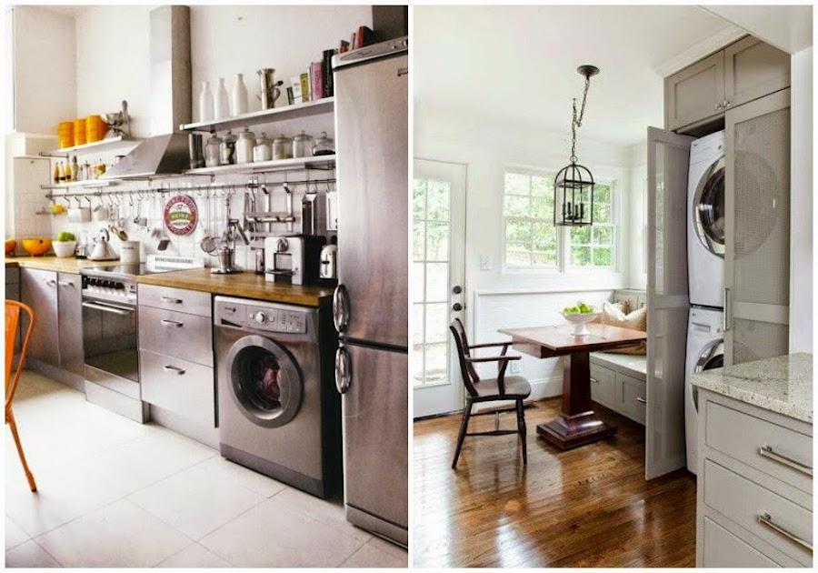 Integrar la zona de lavadero en la cocina decoraci n for Lavaderos de cocina