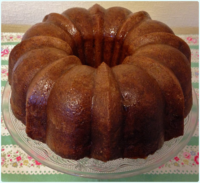 Spiced Apple and Giant Sultana Bundt with Maple Glaze