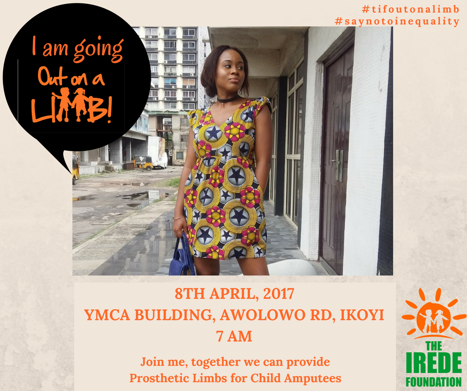 The Irede Foundation, Going out on a limb, say no to inequality, ngo, charity in lagos, ngo in lagos