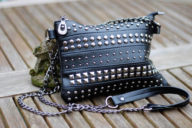 Fake Fabulous |The Samantha Bag, Black and studs!