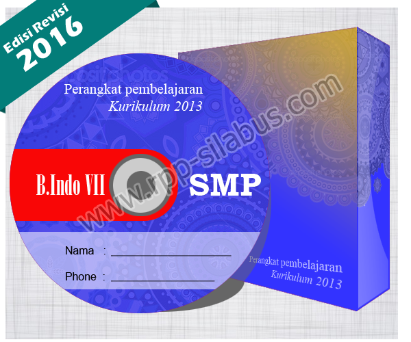 Jual Rpp Bahasa Indonesia Smp Kurikulum 2013 Edisi Revisi 2016 Kelas 7