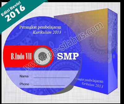 Jual RPP Bahasa Indonesia SMP Kelas VII Kurikulum 2013 Edisi Revisi 2016