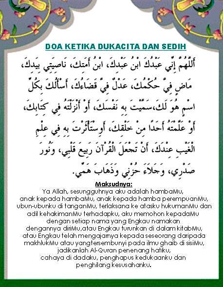 doa ketika dukacita dan sedih