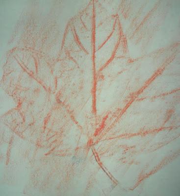 Jesienne liście, fotaż, praca plastyczna, pani domowa