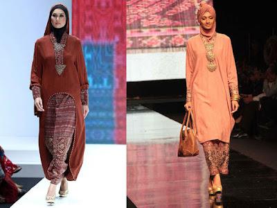 Gamis Batik V-neck Style