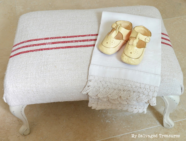 vintage footstool update
