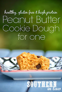 Healthy Single Serve Peanut Butter Protein Cookie Dough Recipe