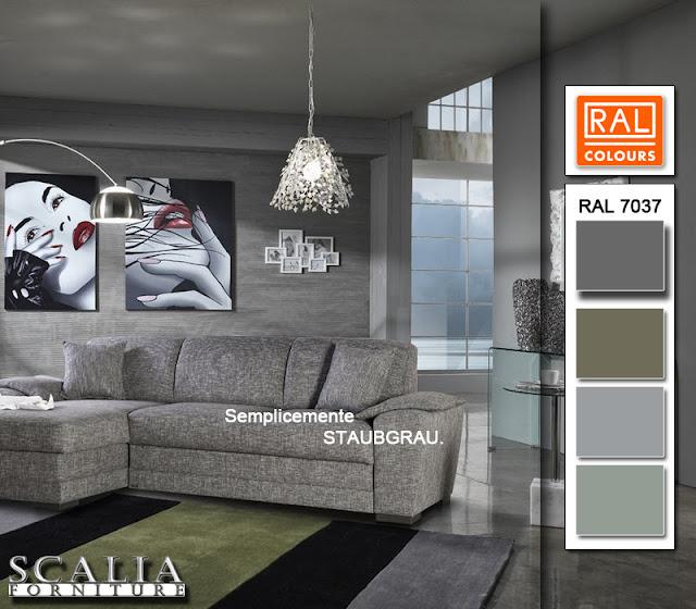 Scalia forniture colori per interno dalla tonalit moderna ral 7037 - Colori per interno ...