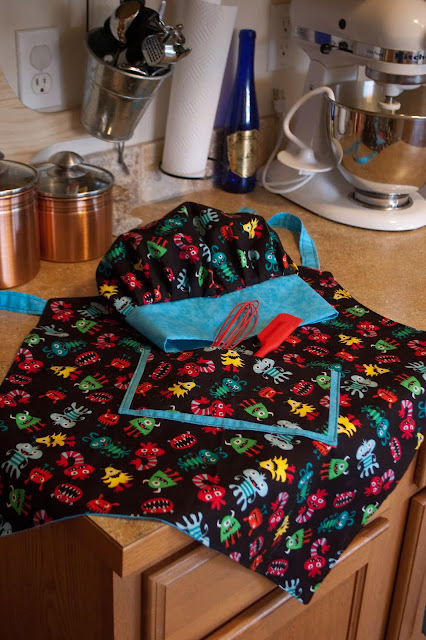Kid's Apron and Chef's Hat