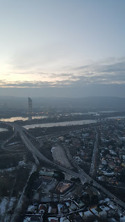 The view across Vienna from the Donautrum Viewing Tower