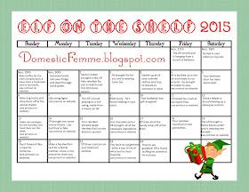 Domestic Femme Elf On The Shelf 2015 Calendar With Free