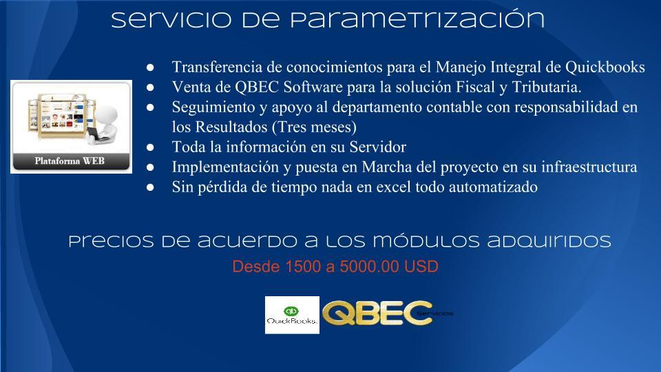 SERVICIOS QUICKBOOKS