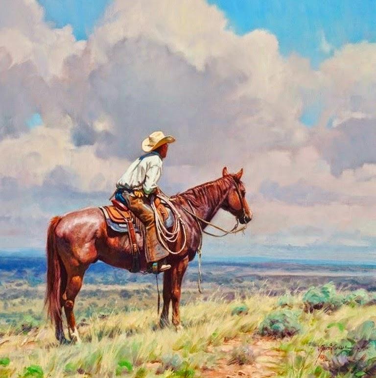 cuadros-de-paisajes-con-indios-y-caballos