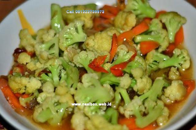 Resep oseng kembang kol-nasi box kawah putih ciwidey