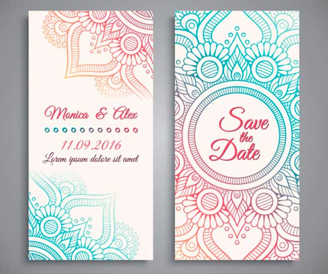 Wedding invitation design download