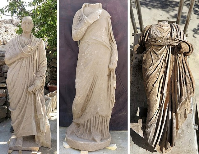 Statues of senior civil servants discovered in ancient city of Side