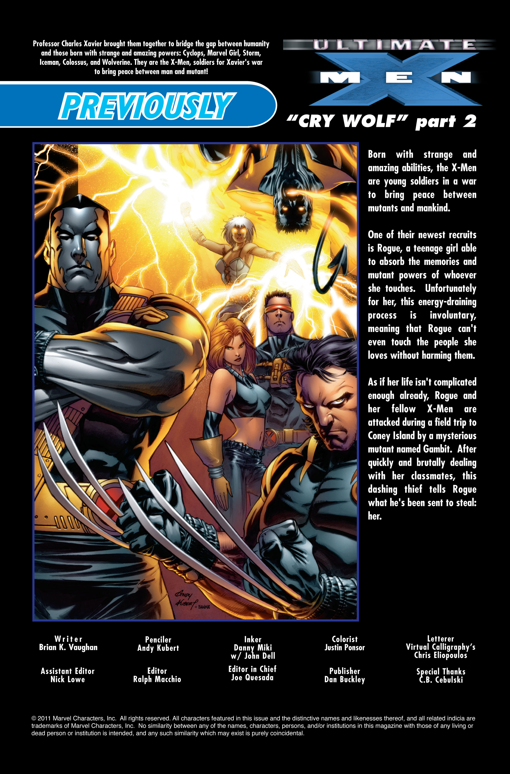 Read online Ultimate X-Men comic -  Issue #51 - 2