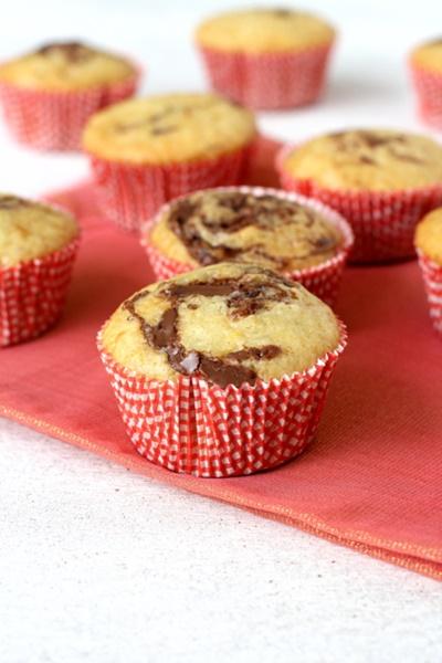 Nutella Swirl Cupcakes
