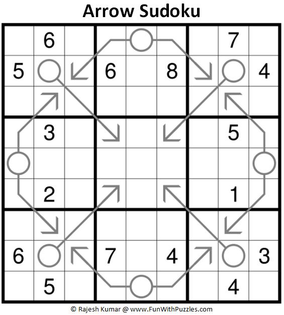 Arrow Sudoku Puzzle (Fun With Sudoku #398)