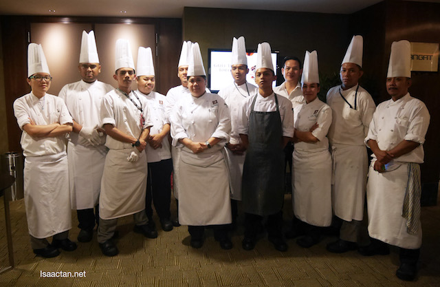 Chef Sherry and the other chefs behind the delectable dishes