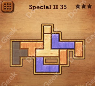 Cheats, Solutions, Walkthrough for Wood Block Puzzle Special II Level 35