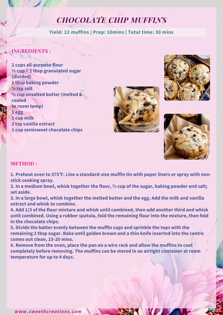 CHOCOLATE CHIP MUFFINS RECIPE