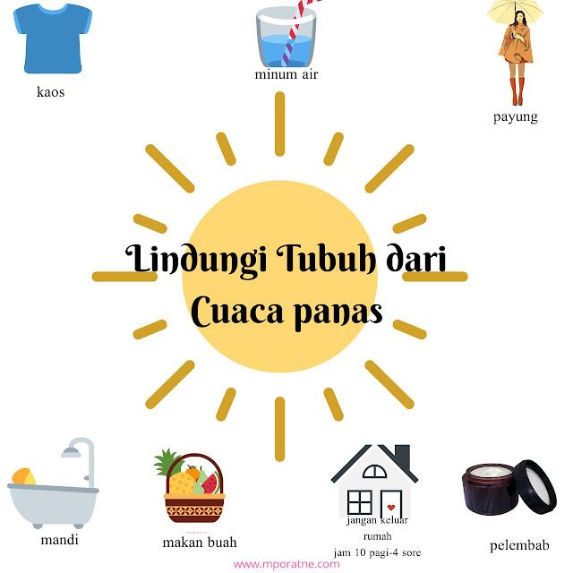 Lindungi tubuh dari cuaca panas