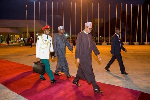 Photos: President Muhammadu Buhari Departs Nigeria For China