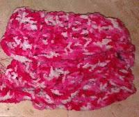 Cuello rosa lana degradé soft