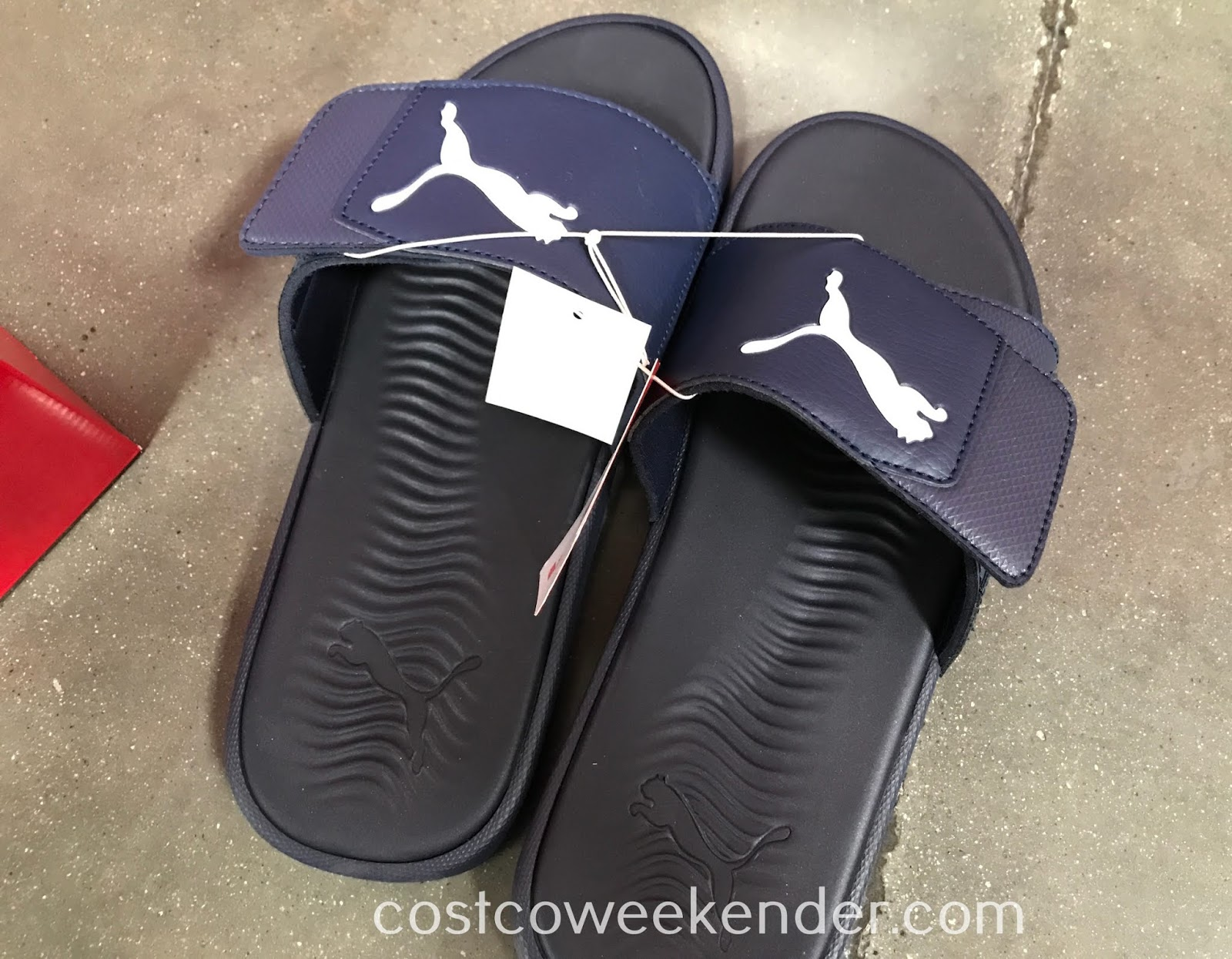 fecee74be449 Walk around outside or even in the house in these Puma Men s Starcat Tech  Slide Sandals