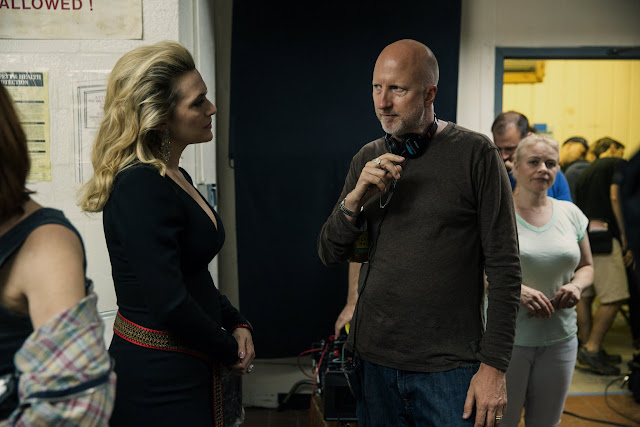 Triple 9 Kate Winslet & Director John Hillcoat on the set of Triple 9