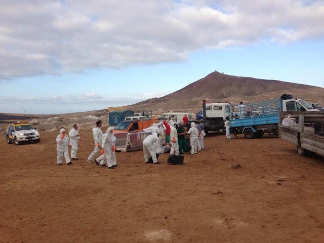 Vor Gran Canaria ist wieder Öl im Atlantik 02