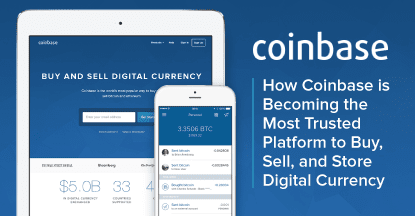 CoinbaseTrusted platform to buy sell and store digital currency