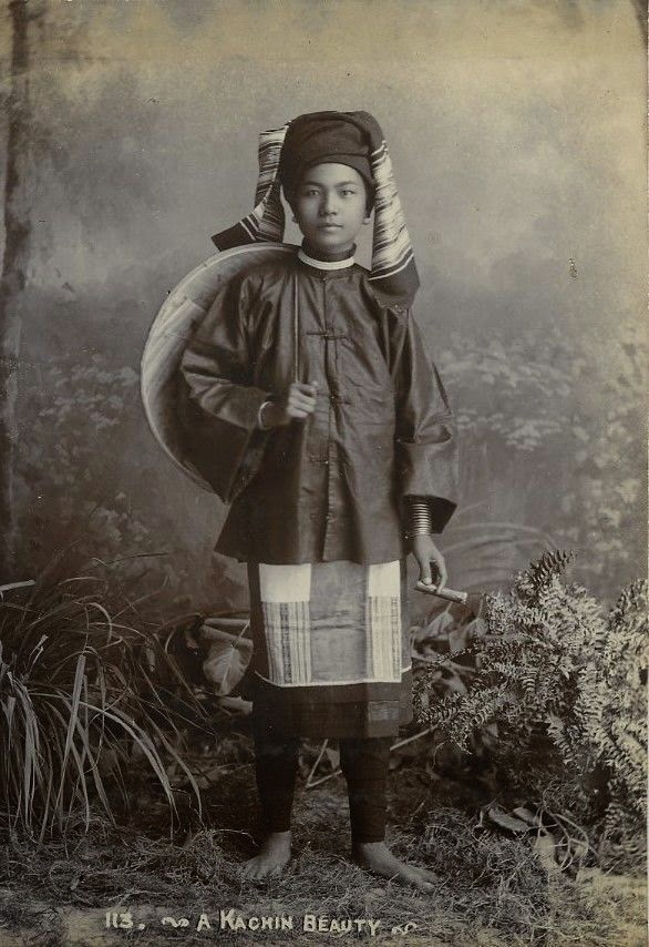 A Kachin Woman - Burma (Myanmar) c1900's