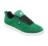 green suede skater style shoe