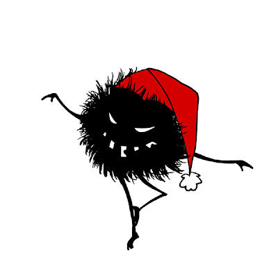 Evil Christmas dancing hairy bug