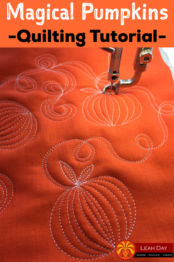 Let S Quilt Magical Pumpkins Free Motion Quilting Project